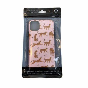Casely Pink Leopard iPhone 11 Pro Max Plastic Case